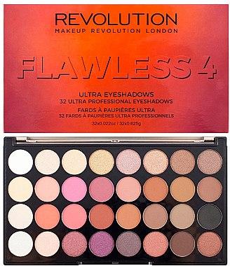 Палитра сенки за очи, 32 цвята - Makeup Revolution Ultra 32 Shade Palette Flawless 4 — снимка N1