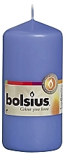 Парфюмерия и Козметика Цилиндрична свещ, синя, 120/58 мм - Bolsius Candle