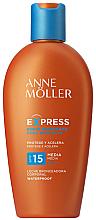 Парфюми, Парфюмерия, козметика Слънцезащитно мляко за бърз тен - Anne Moller Express Sunscreen Body Milk SPF15