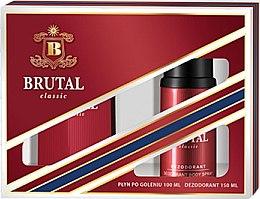 Парфюми, Парфюмерия, козметика La Rive Brutal Classic - Комплект лосион за след бръснене и дезодорант (ash/lot/100ml + deo/150ml)