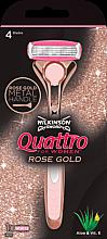 Парфюмерия и Козметика Самобръсначка + 1 сменяема приставка - Wilkinson Sword Quattro for Women Rose Gold