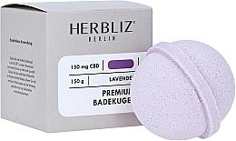 Парфюмерия и Козметика Бомбичка за вана с аромат на лавандула - Herbliz CBD