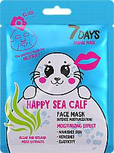 """Парфюмерия и Козметика Маска за лице """"Щастлив тюлен"""" - 7 Days Animal Happt Sea Calf"""