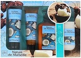 Парфюми, Парфюмерия, козметика Комплект - Nature de Marseille Cocos (душ гел/100ml + крем за ръце/60ml + балсам за тяло/150ml + сапин/90g)