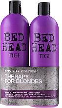 Парфюми, Парфюмерия, козметика Комплект - Tigi Bed Head Dumb Blonde (shm/750ml + cond/750ml)