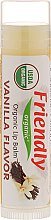 """Парфюмерия и Козметика Балсам за устни """"Ванилия"""" - Friendly Organic Lip Balm Vannilla"""