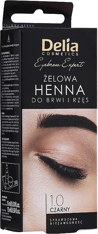 Гел-къна за вежди и мигли, черна - Delia Eyebrow Tint Gel ProColor 1.0 Black