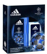 Парфюми, Парфюмерия, козметика Adidas UEFA Champions League Edition - Комплект (део спрей /75ml + душ гел/250ml)
