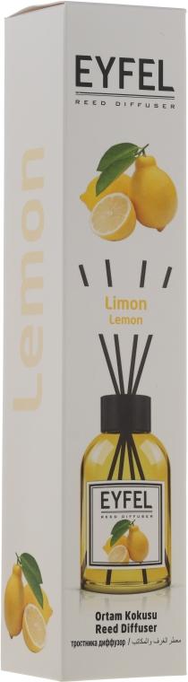 "Арома дифузер ""Лимон"" - Eyfel Perfume Reed Diffuser Lemon"