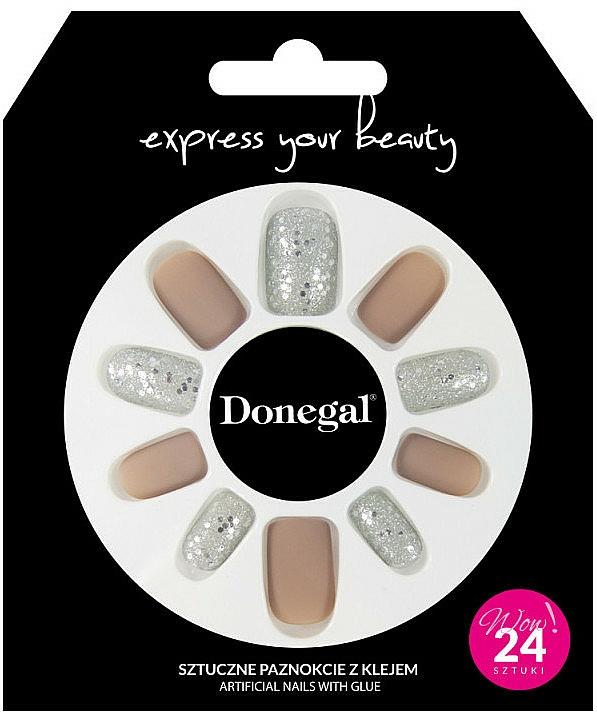 Комплект за изкуствен маникюр с лепило, 3063 - Donegal Express Your Beauty