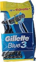 Парфюми, Парфюмерия, козметика Комплект самобръсначки за еднократна употреба, 12+4 бр. - Gillette Blue 3