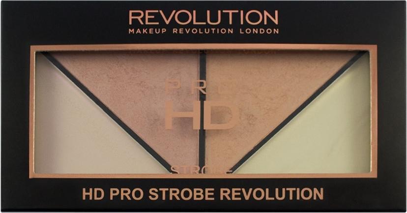 Палитра с хайлайтъри - Makeup Revolution HD Pro Strobe Revolution — снимка N3