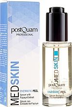 Парфюмерия и Козметика Ензимен серум-пилинг за лице с екстракт от папая - PostQuam Med Skin Enzimatic Peel Serum With Papaya Extract
