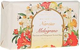 "Парфюмерия и Козметика Натурален сапун ""Нарцис и Нар"" - Saponificio Artigianale Fiorentino Narcissus & Pomegranate Soap"