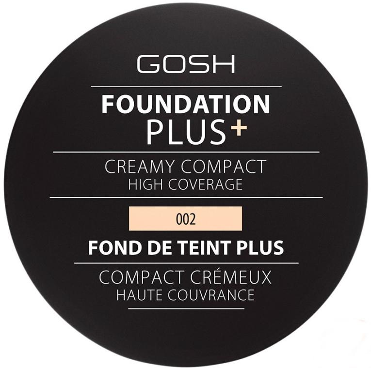 Компактен фон дьо тен - Gosh Foundation Plus + Creamy Compact High Coverage — снимка N1