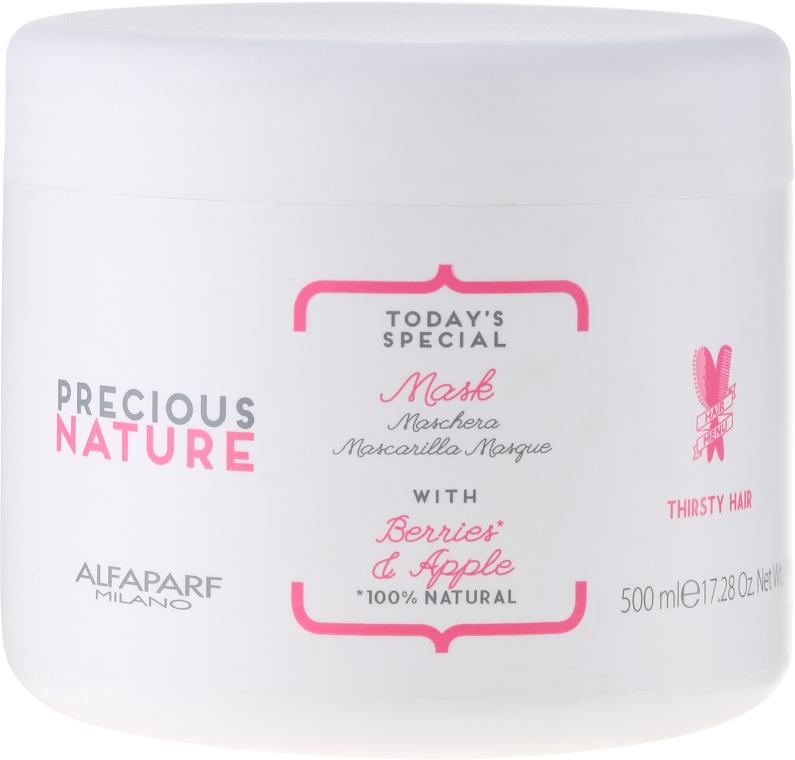 """Маска за суха и изтощена коса """"Горски плодове и ябълка"""" - Alfaparf Precious Nature Mask for Thirsty Hair — снимка N1"""