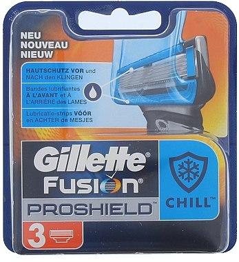 Сменяеми ножчета за бръснене, 3 бр. - Gillette Fusion Proshield Chill — снимка N1