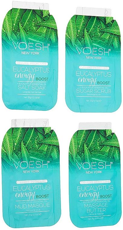 "Педикюрен комплект ""Евкалипт"" - Voesh Pedi In A Box Deluxe 4 Step Pedicure Eucalyptus Energy Boost + Eucalyptus Essential Oil — снимка N4"