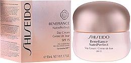 Парфюми, Парфюмерия, козметика Дневен крем - Shiseido Benefiance NutriPerfect Day Cream SPF 15