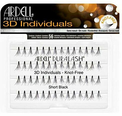 Мигли на снопчета - Ardell Duralash 3D Individuals Short Black 75941 — снимка N1