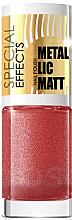 Парфюмерия и Козметика Лак за нокти - Eveline Cosmetics Special Effects Metallic Matt