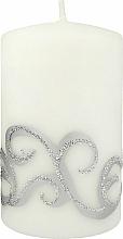 Парфюмерия и Козметика Декоративна свещ , бяла , 7x10 см - Artman Christmas Ornament