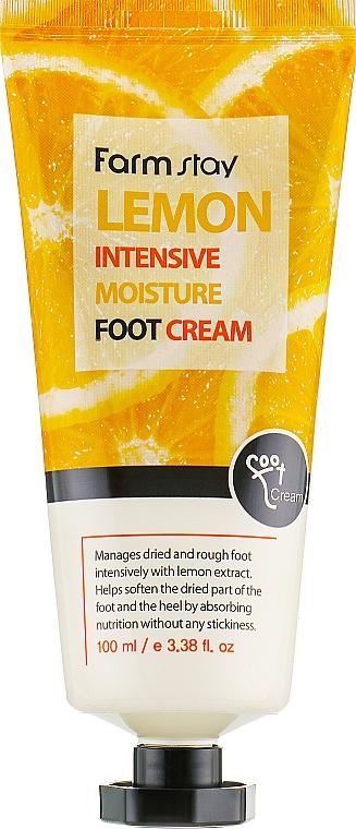 Крем за крака с екстракт от лимон - FarmStay Lemon Intensive Moisture Foot Cream