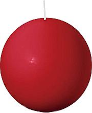 Парфюмерия и Козметика Кръгла свещ, червена, 80 мм - Bolsius Candle