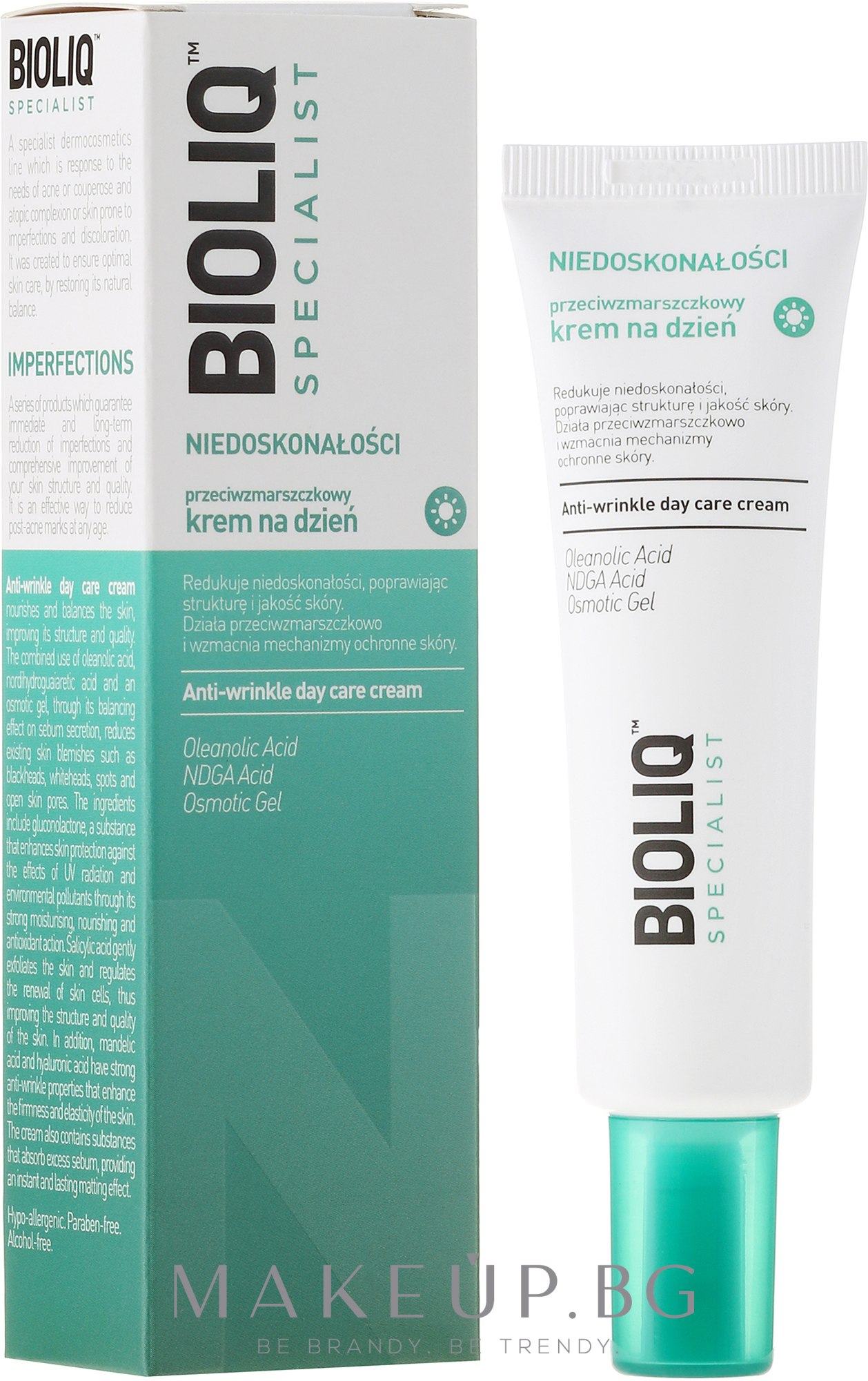 Дневен крем против бръчки - Bioliq Specialist Niedoskonałośc Anti-Wrinkle Day Care Cream — снимка 30 ml