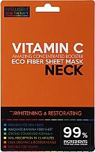 Парфюмерия и Козметика Маска за шия - Beauty Face IST Whitening & Restorating Neck Mask Vitamin C