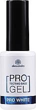 Парфюмерия и Козметика Укрепваща основа за нокти - Alessandro International Protectig Base Gel Pro White