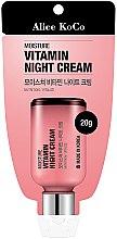 Парфюми, Парфюмерия, козметика Нощен витаминен крем за лице - Alice Koco Vitamine Night Cream