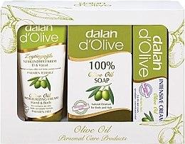 Парфюми, Парфюмерия, козметика Комплект крем за ръце и тяло, сапун и интензивен крем за лице - Dalan D'Olive Personal Care Products Kit (h/cr/70 ml + soap/150 g + b/cr/20 ml)