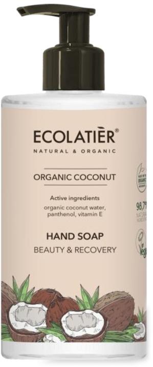"""Течен сапун за ръце """"Подхранване и възстановяване"""" - Ecolatier Organic Coconut Hand Soap"""