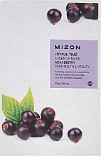 Парфюмерия и Козметика Маска от плат с екстракт от ягода и Акай - Mizon Joyful Time Essence Mask Acai Berry