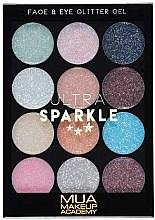 Парфюмерия и Козметика Палитра гелообразни брокати за лице и тяло - MUA Ultra Sparkle Palette