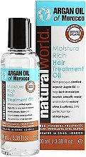 Парфюми, Парфюмерия, козметика Арганово масло за коса - Natural World Argan Oil of Morocco Moisture Rich Hair Treatment Oil