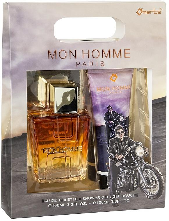 Omerta Paris Mon Homme - Комплект (тоал. вода/100ml + душ гел/100ml)