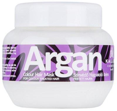 "Маска за боядисана коса ""Арган"" - Kallos Cosmetics Argan Color Hair Mask — снимка N3"