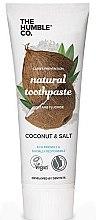 Парфюмерия и Козметика Натурална паста за зъби с кокос и сол - The Humble Co. Natural Toothpaste Coconut & Salt