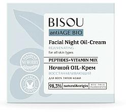 Парфюмерия и Козметика Възстановяващ нощен крем за лице - Bisou AntiAge Bio Facial Night Oil-Cream