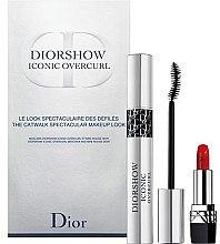 Парфюми, Парфюмерия, козметика Комплект - Christian Dior Diorshow Iconic Overcurl Gift Set (спирала/10ml+червило за устни/1,5g)