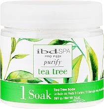 Парфюмерия и Козметика Почистваща сол за вана за ръце и крака с екстракт от чаено дърво - IBD Tea Tree Purify Pedi Spa Soak