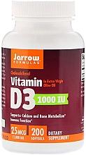 Парфюмерия и Козметика Хранителна добавка Витамин D3, гел-капсули - Jarrow Formulas Cholecalciferol Vitamin D3 1000 IU 25 mcg