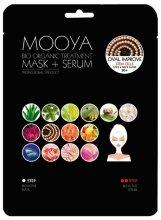 Парфюми, Парфюмерия, козметика Маска + серум със стволови клетки - Beauty Face Mooya Bio Organic Treatment Mask + Serum