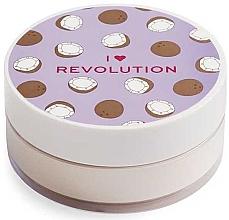 Парфюмерия и Козметика Насипна кокосова пудра за лице - I Heart Revolution Loose Baking Powder Coconut