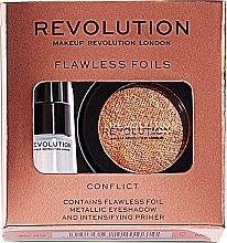Парфюмерия и Козметика Makeup Revolution Flawless Foils (сенки за очи/2гр + основа за очи/2мл) (Overcome) - Комплект