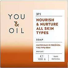 Парфюмерия и Козметика Подхранващ сапун за всеки тип кожа - You & Oil Nourish & Nurture All Skin Types