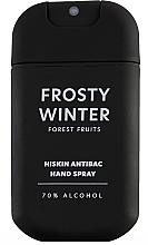Парфюмерия и Козметика Дезинфекциращ спрей за ръце с горски плодове - HiSkin Antibac Hand Spray Frosty Winter
