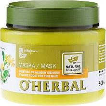 Парфюмерия и Козметика Маска за обем на тънка коса - O'Herbal